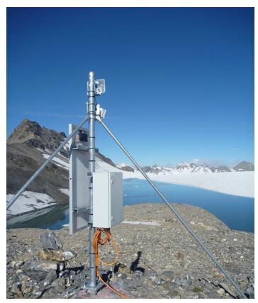 图:测量站在Plaine Morte冰川