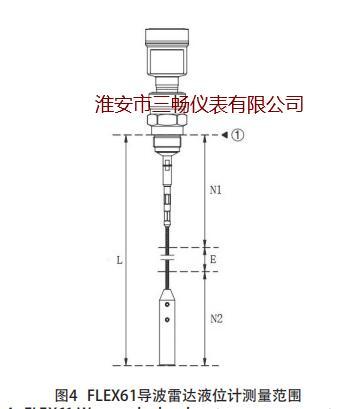 FLEX61导波雷达液位计测量范围