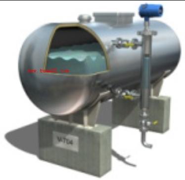 使用导波雷达通过腔室测量低反射性湍流液体